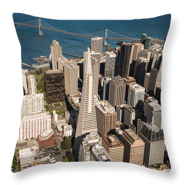 San Francisco Aloft Throw Pillow by Steve Gadomski