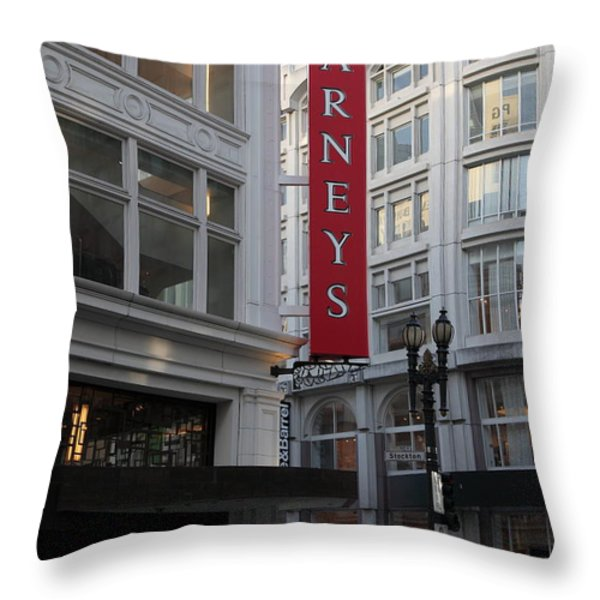 San Francisco Barneys Department Store - 5D20544 Throw Pillow by Wingsdomain Art and Photography