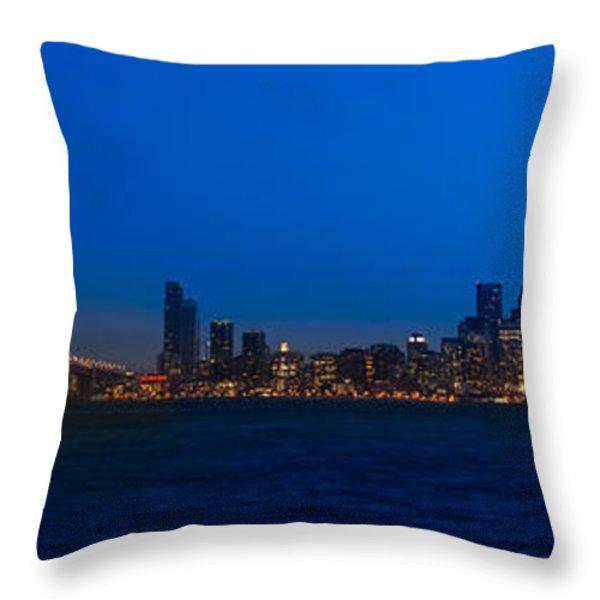 San Francisco Bay Throw Pillow by Steve Gadomski