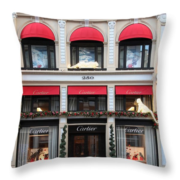 San Francisco Cartier Storefront - 5d20567 Throw Pillow by Wingsdomain Art and Photography