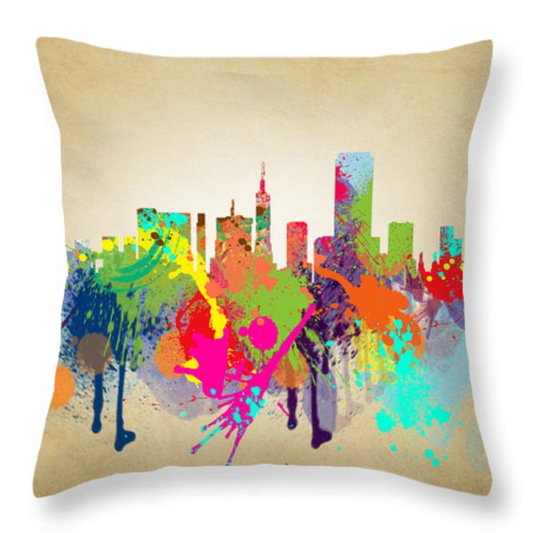 san francisco Citi Throw Pillow by Mark Ashkenazi