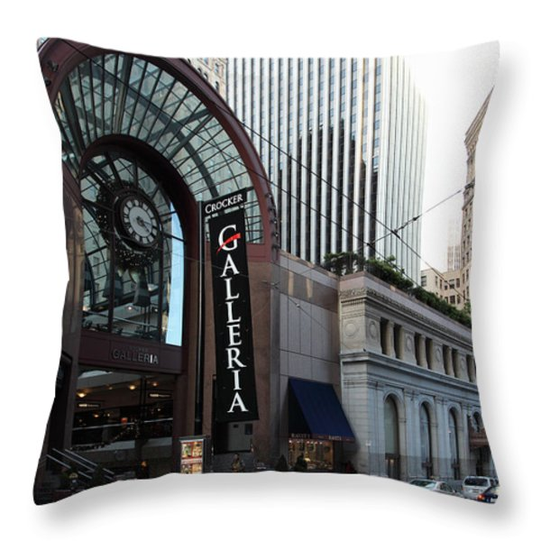 San Francisco Crocker Galleria - 5D20596 Throw Pillow by Wingsdomain Art and Photography