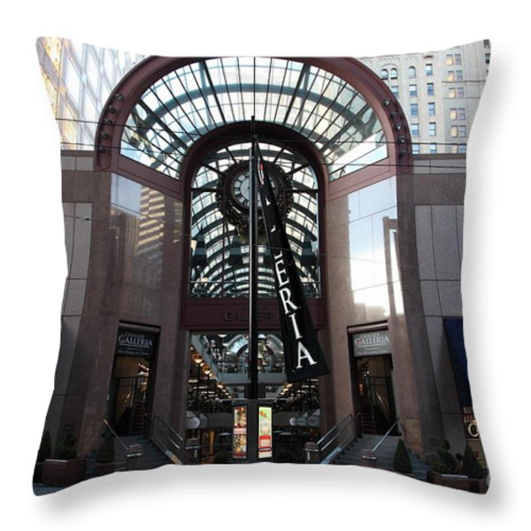 San Francisco Crocker Galleria - 5D20599 Throw Pillow by Wingsdomain Art and Photography
