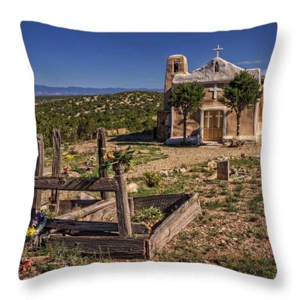 San Francisco de Asis Church Throw Pillow by Priscilla Burgers