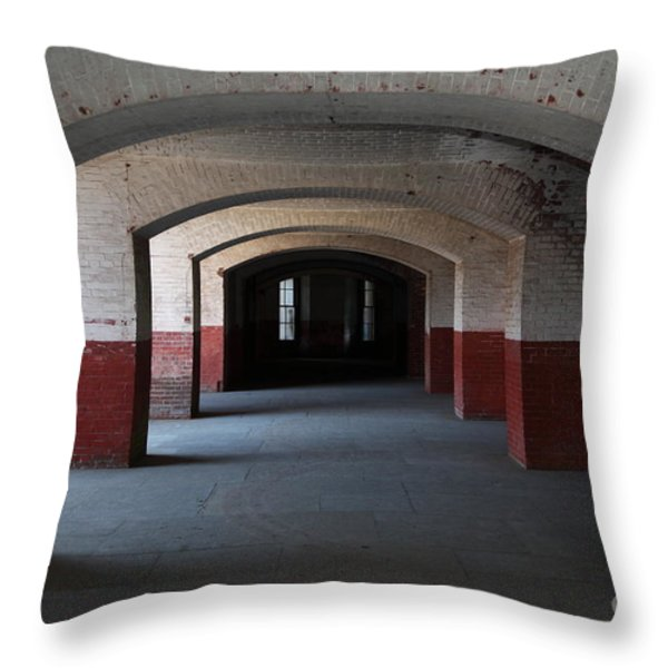San Francisco Fort Point 5D21544 Throw Pillow by Wingsdomain Art and Photography
