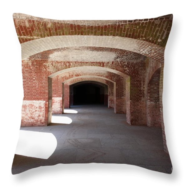 San Francisco Fort Point 5d21546 Throw Pillow by Wingsdomain Art and Photography