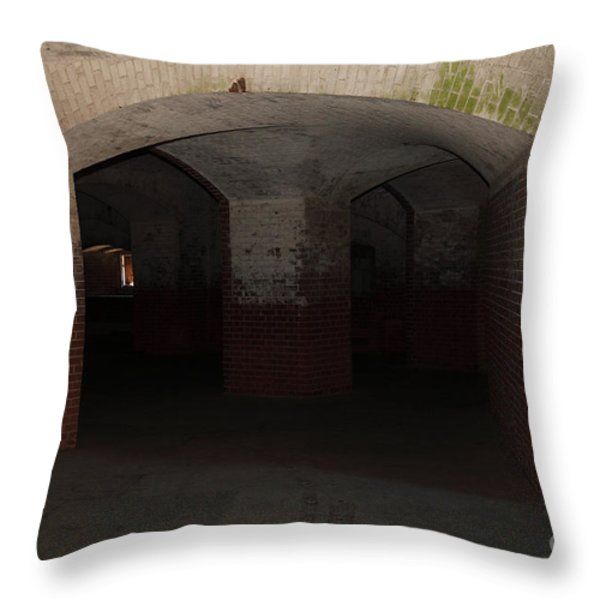 San Francisco Fort Point 5d21548 Throw Pillow by Wingsdomain Art and Photography