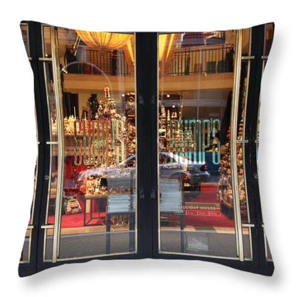 San Francisco Gumps Store Doors - 5D20585 Throw Pillow by Wingsdomain Art and Photography