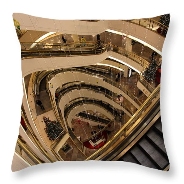 San Francisco Nordstrom Department Store - 5d20639 Throw Pillow by Wingsdomain Art and Photography