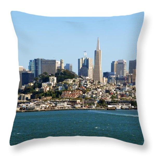 San Francisco Skyline Throw Pillow by Kelley King