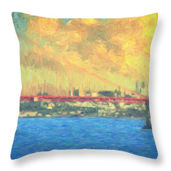 San Francisco Throw Pillow by Taylan Soyturk