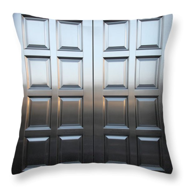 San Francisco Tiffany and Company Store Doors - 5D20561 Throw Pillow by Wingsdomain Art and Photography