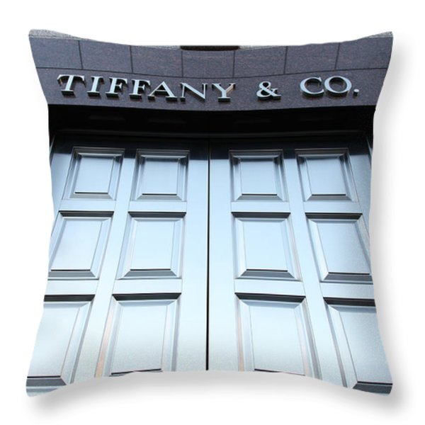 San Francisco Tiffany And Company Store Doors - 5d20562 Throw Pillow by Wingsdomain Art and Photography