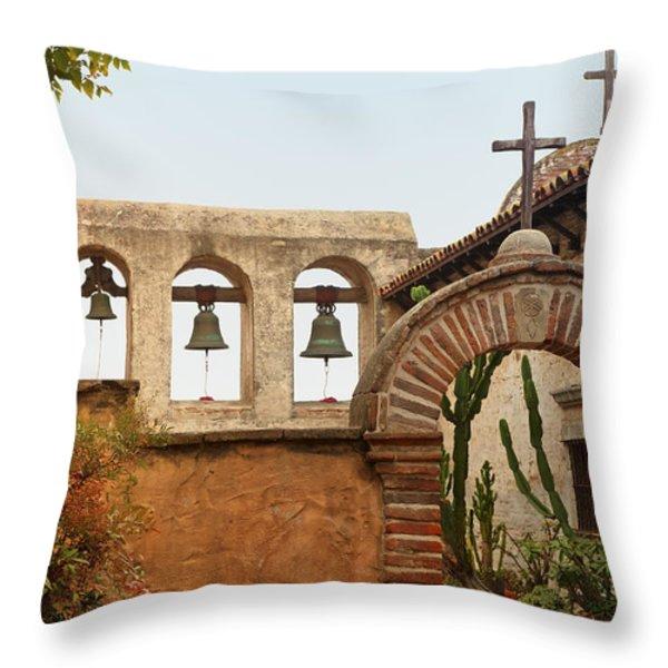 San Juan Capistrano Mission - Photography by Jo Ann Tomaselli Throw Pillow by Jo Ann Tomaselli