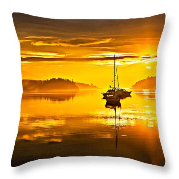 San Juan Sunrise Throw Pillow by Robert Bales