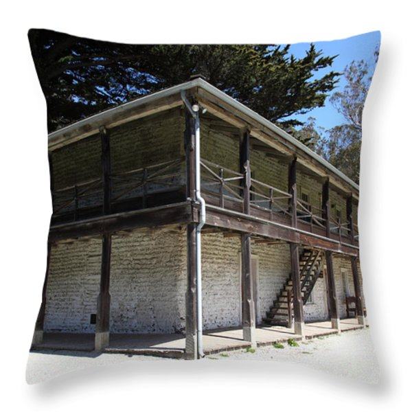 Sanchez Adobe Pacifica California 5d22642 Throw Pillow by Wingsdomain Art and Photography
