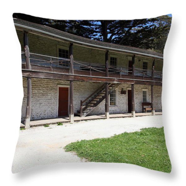 Sanchez Adobe Pacifica California 5d22643 Throw Pillow by Wingsdomain Art and Photography
