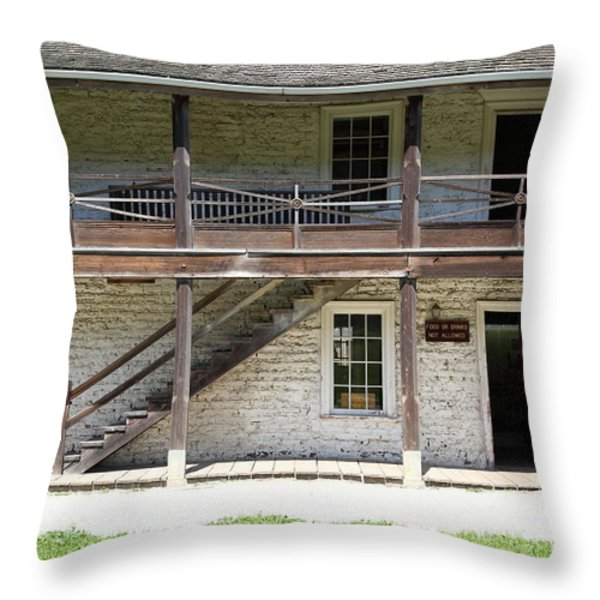 Sanchez Adobe Pacifica California 5D22655 Throw Pillow by Wingsdomain Art and Photography