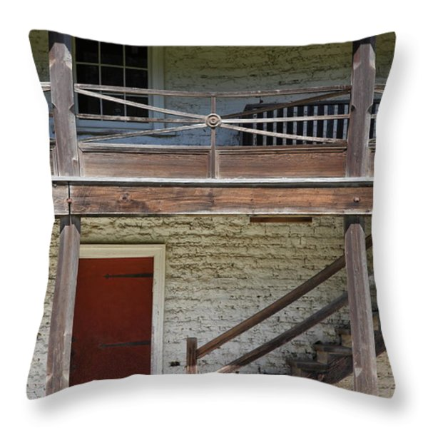Sanchez Adobe Pacifica California 5D22657 Throw Pillow by Wingsdomain Art and Photography