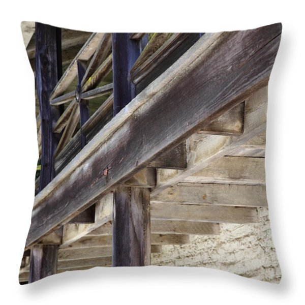 Sanchez Adobe Pacifica California 5D22658 Throw Pillow by Wingsdomain Art and Photography