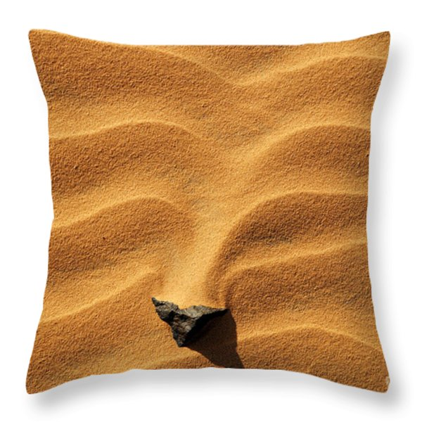 Sand And Stone Throw Pillow by Robert Preston