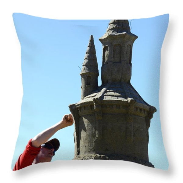 Sand Castle 1 Throw Pillow by Bob Christopher