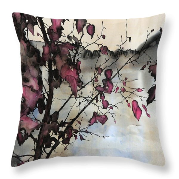 Sand Creek Throw Pillow by Carolyn Doe