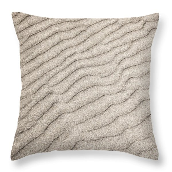Sand ripples natural abstract Throw Pillow by Elena Elisseeva