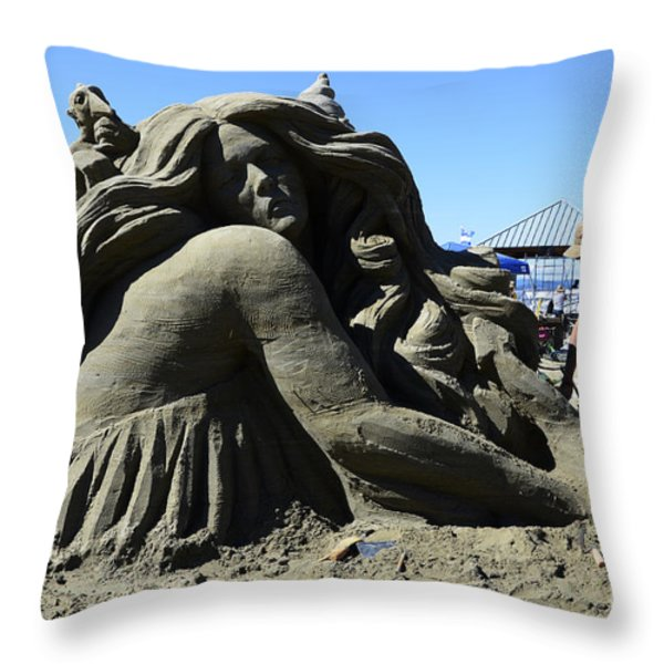 Sand Sculpture 1 Throw Pillow by Bob Christopher