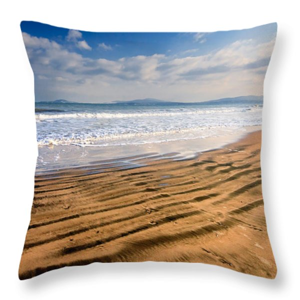 Sand Waves Throw Pillow by Evgeni Dinev