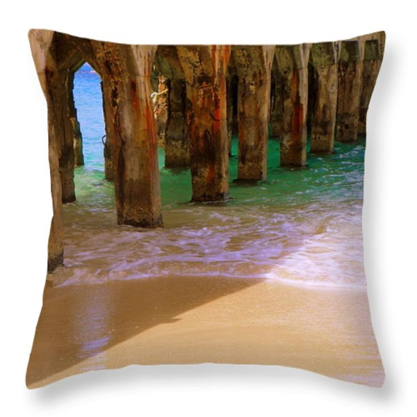 Sands Of Time Throw Pillow by Karen Wiles