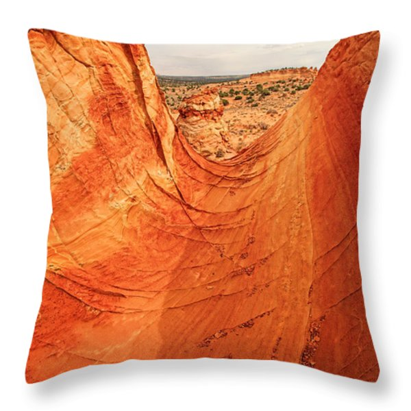 Sandstone Bowl Throw Pillow by Inge Johnsson