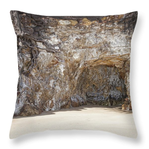 Sandstone Cave Throw Pillow by Douglas Barnard