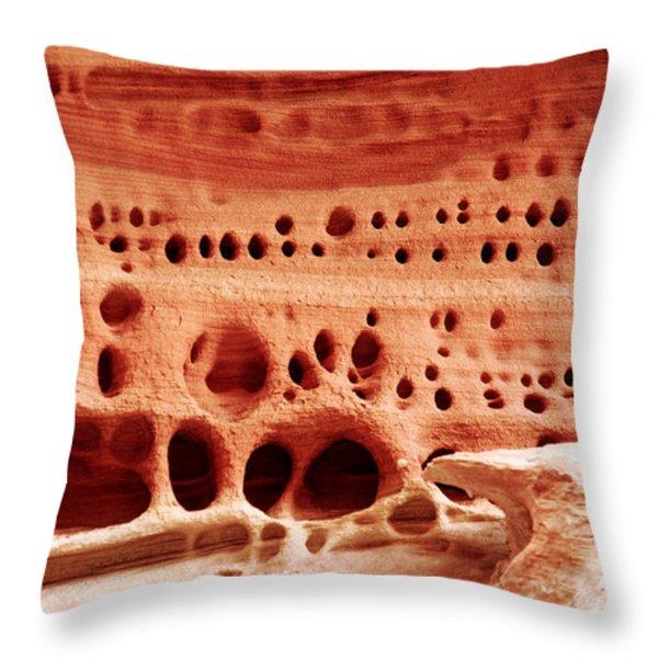 Sandstone City Throw Pillow by Aidan Moran
