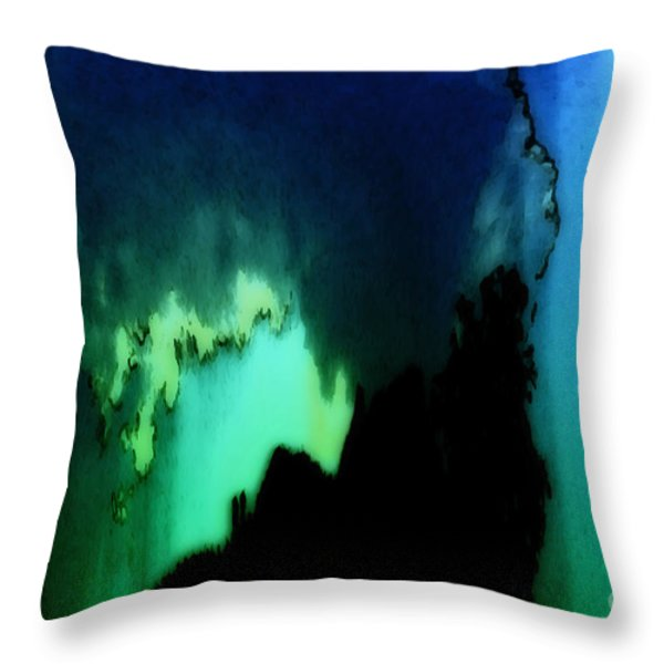 Sans Titre Ix Throw Pillow by Gerlinde Keating - Keating Associates Inc