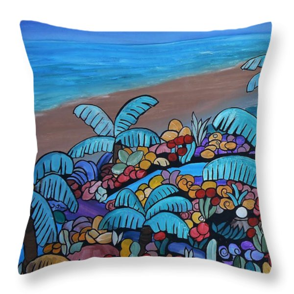 Santa Barbara Beach Throw Pillow by Barbara St Jean