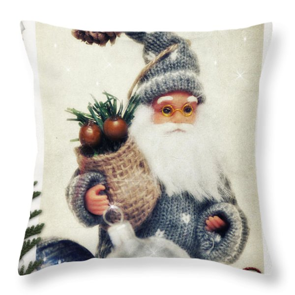 Santa Claus Throw Pillow by Angela Doelling AD DESIGN Photo and PhotoArt