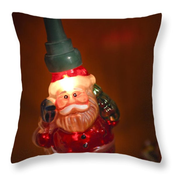 Santa Claus - Antique Ornament - 06 Throw Pillow by Jill Reger