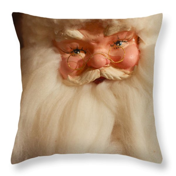 Santa Claus - Antique Ornament - 14 Throw Pillow by Jill Reger