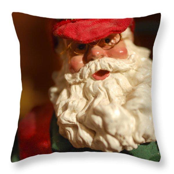 Santa Claus - Antique Ornament - 16 Throw Pillow by Jill Reger