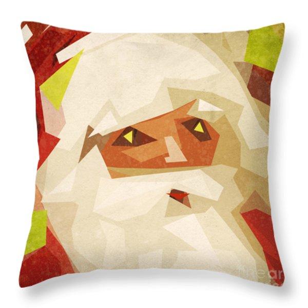 santa claus Throw Pillow by Setsiri Silapasuwanchai