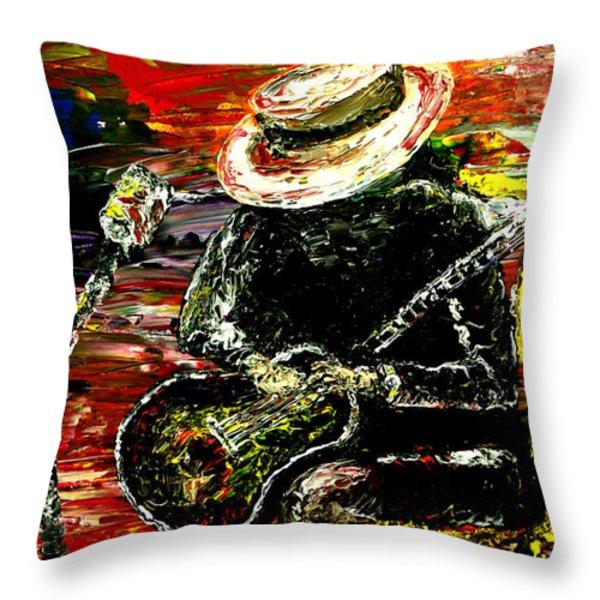 Santana Throw Pillow by Mark Moore