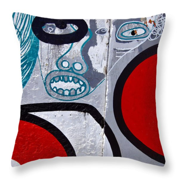 Sao Paulo Graffiti I Throw Pillow by Julie Niemela