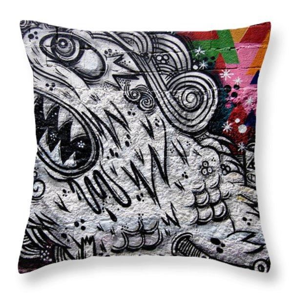 Sao Paulo Graffiti VII Throw Pillow by Julie Niemela