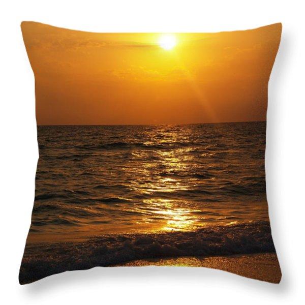 Sarasota Sunset Florida Throw Pillow by Athala Carole Bruckner