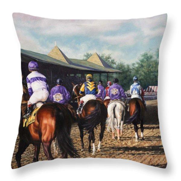 Saratoga Post Parade Throw Pillow by Thomas Allen Pauly