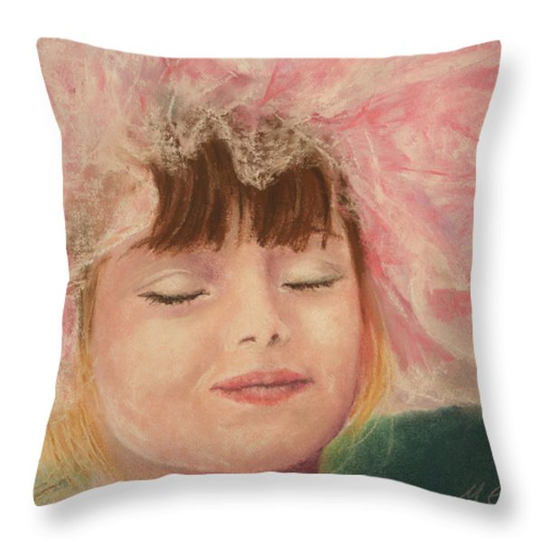 Sassy In Tulle Throw Pillow by Marna Edwards Flavell