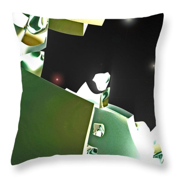Satellite View Throw Pillow by First Star Art