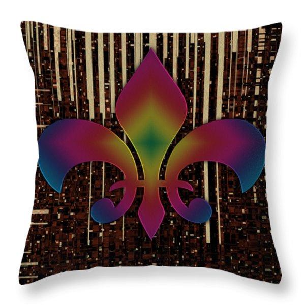 Satin Lily Symbol Digital Painting Throw Pillow by Georgeta Blanaru
