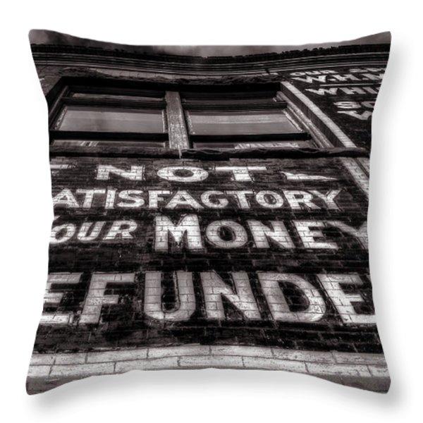 Satisfaction Guranteed Throw Pillow by Ken Smith